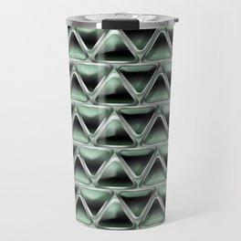 Malachite Triangles Travel Mug