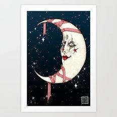 The Clown Moon Art Print