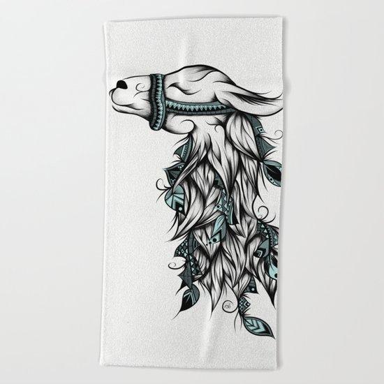 Poetic Llama  Beach Towel