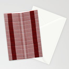 Black and red lines background Stationery Cards