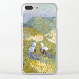 Dunes and sea in Zoutelande by Jan Toorop, 1907 Clear iPhone Case