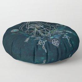 Mystical Sacred Geometry Ornament Floor Pillow