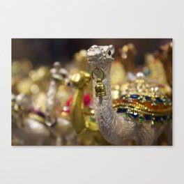Camel Figurines from a Dubai Shop Canvas Print