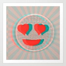Heart Emoji Art Print