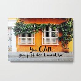 Cartagena de Indias street Metal Print