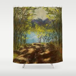 Chickies Rock Overlook Soft Pastel Painting Shower Curtain