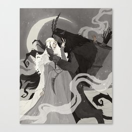 Krampus and Perchta III Canvas Print