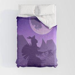 Native American Fan Dancer by moonlight Comforters