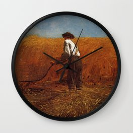 The Veteran In A New Field 1865 By WinslowHomer | Reproduction Wall Clock