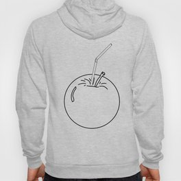 an Apple and a straw ( https://society6.com/totalflora/collection ) Hoody