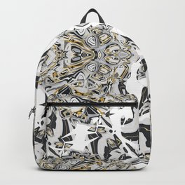 Abstract Black Gold Kaleidoscope Art Backpack