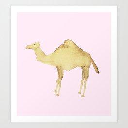 Coffee Stain Camel Art Print