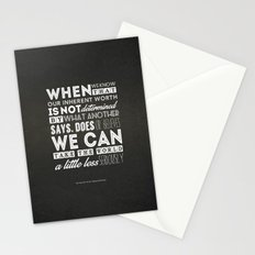 The Fine Art Of Not Being Offended Stationery Cards