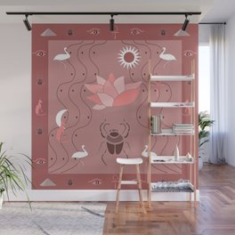 Egyptian Design - Dusty Roses Wall Mural