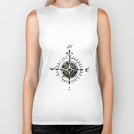 Compass - by Genu Biker Tank