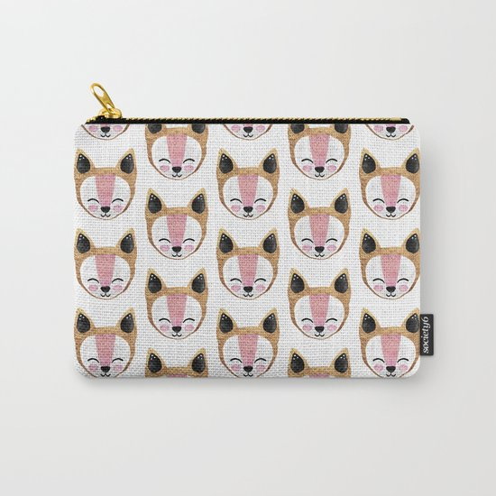 Arctic Fox Pattern Carry-All Pouch