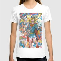 supergirl T-shirts featuring Vintage Comic Supergirl by Dave Seedhouse.com