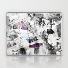 Newspaper collage Laptop & iPad Skin