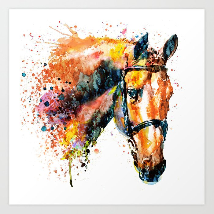 Colorful Canvas Horse Paintings