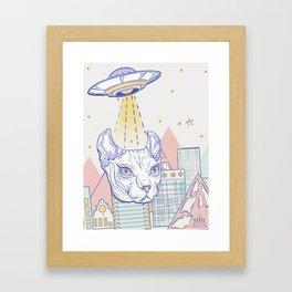 Alien Cat Framed Art Print