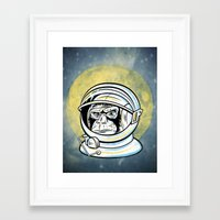 ape Framed Art Prints featuring Space Ape by Fanboy30