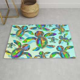 Baby Sea Turtle Fabric Toy Rug