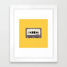 Polka dot cassette tape Framed Art Print