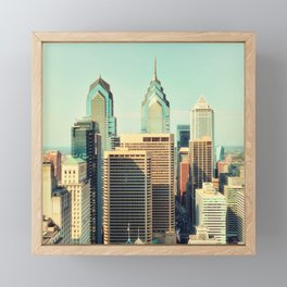 Philadelphia Skyline Framed Mini Art Print