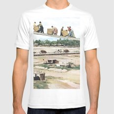 High Road White Mens Fitted Tee MEDIUM