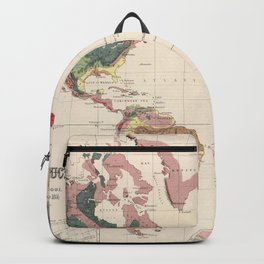 Vintage Geological Map of The World (1856) Backpack