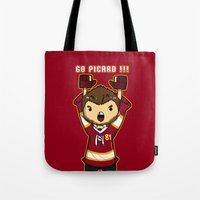 picard Tote Bags featuring Mini Picard by Kana Aiysoublood
