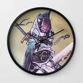 Birds In Armor Wall Clock