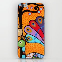 Mexican Tree of Life Peacock Painting by prisarts iPhone Skin
