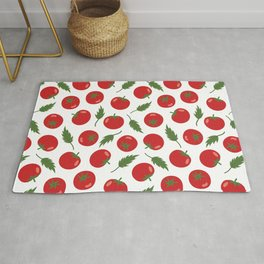 Hand Drawn Red Tomato Seamless Pattern Rug