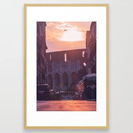 Purple Colosseum Framed Art Print