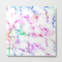 Saltwater Taffy Colored Marble Pattern Metal Print