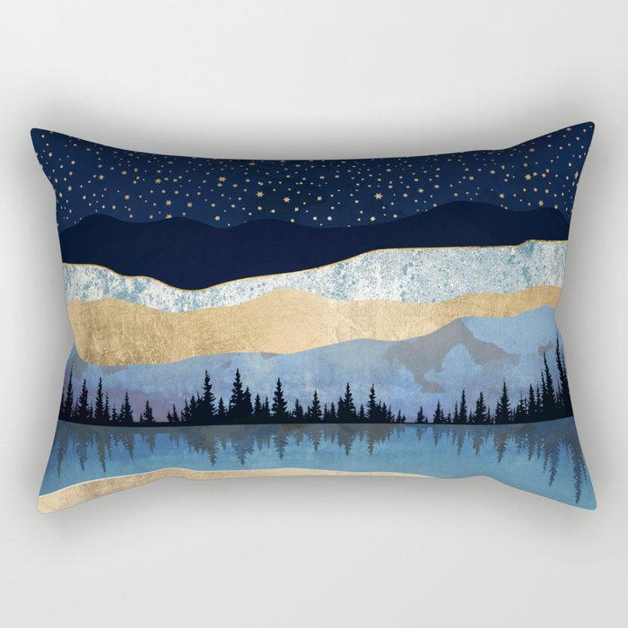 Midnight Lake Rectangular Pillow