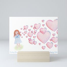 Sending Love Mini Art Print