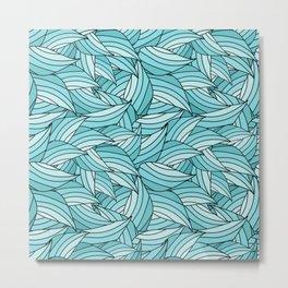 ISLAND PARADISE LEAVES B (abstract flowers nature) Metal Print