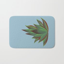 Red and Green Aloe Vera Plant Bath Mat