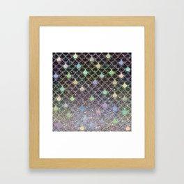 Mermaid scales ombre glitter #2 Framed Art Print