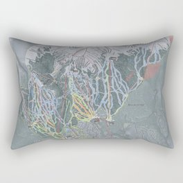 Breckenridge Resort Trail Map Rectangular Pillow