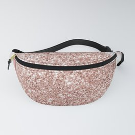 Blush Pink Glitter & Rose Gold Marble Fanny Pack