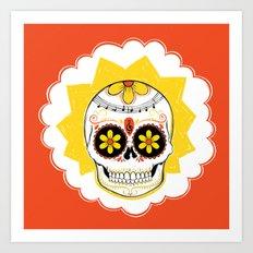 Lisa de los Muertos Art Print
