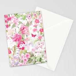 Vintage & Shabby Chic - Pastel Spring Flower Medow Stationery Cards