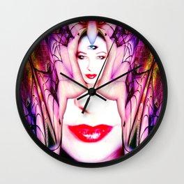 Crystal Bat Mask Wall Clock
