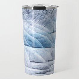 Light steel blue clouded wash drawing Travel Mug