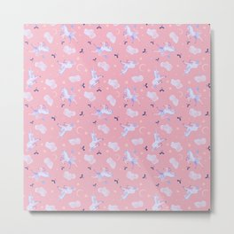 Unicorn Dreams Pink Metal Print