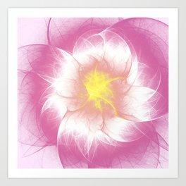 Pink Flower Fractal Art Print