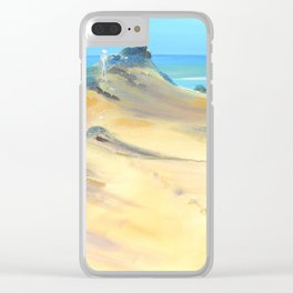 Sand between the toes Clear iPhone Case